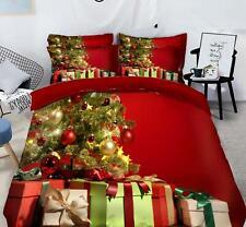 3D Geschenkbox Baum M601 Weihnachten Steppdecke Bettbezug Christmas Bett Fay