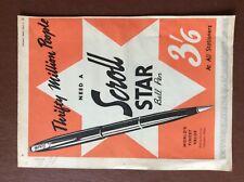f1c ephemera 1951 advert folded scroll star ball pen