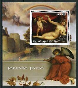 Mali 2018 MNH Lorenzo Lotto Italian Painter 1v M/S Art Nude Paintings Stamps