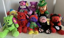 Skansen Beanie Kids Bear, Toy, Lucky, Chuckles, Meow, Lot X 9 & Others, Tags
