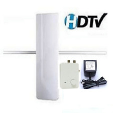 DIGITAL INDOOR/OUTDOOR VHF&UHF ANTENNA W/2-WAY AMPLIFIED SPLITTER