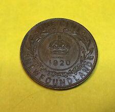1920 Newfoundland One Cent, Nice AU/UNC coin