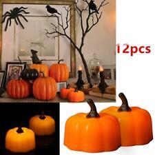 12pcs LED Pumpkin Lights Halloween Decoration Flickering Night Light Home Decor