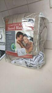 Biddeford Comfort Knit QUEEN Electric Heated Blanket 2 Controls