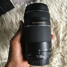 Canon EF 75-300mm f/4-5.6 III USM lens BOXED MINT USED ONCE