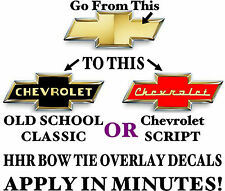 CHEVY HHR BOWTIE VINTAGE - RETRO STYLE OVERLAYS - DECALS , STICKERS , GRAPHICS