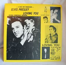 ELVIS PRESLEY Loving You Red Vinyl Gold Suit Productions RARE EUC The King