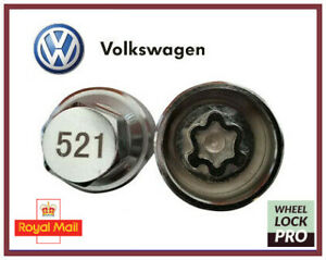 New Volkswagen VW Locking Wheel Nut Key Number 521 'A' - UK Seller