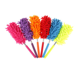 Stretch Extend Microfiber Dust Shan Adjustable Feather Duster Dusting Brush OH