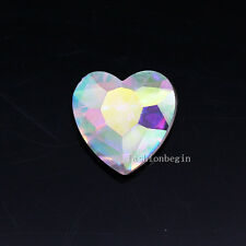 15p 12mm heart point back crystal stone glass rhinestone jewels brooch necklace
