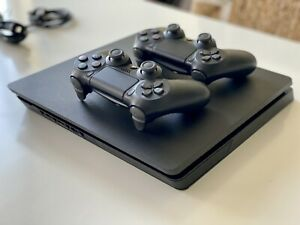 FREE SHIPPING!!! WARRANTY!!! Sony PlayStation 4 Slim 500GB, two controllers