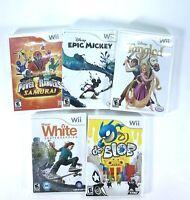 Epic Mickey Tangled Power Rangers Blob Shaun White Bundle Lot Nintendo Wii Games