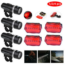 1Set Waterproof 5 Led Lamp Bike Bicycle Head Light+Rear Safety Flashlight Usa