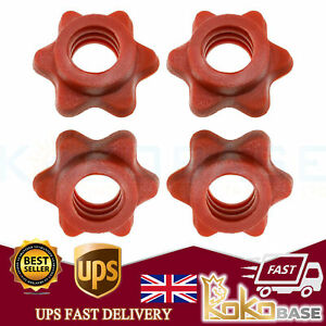 4 X Dumbbell Spinlock Collars Weight Check Nut Barbell Bar Clips Spin Lock Screw