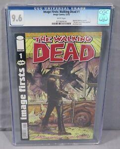 IMAGE FIRSTS: WALKING DEAD #1 (White Pages) CGC 9.6 NM+ 2012 Robert Kirkman
