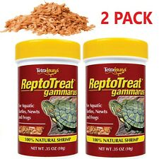 Whole Shrimp Treat for Aquatic Turtles Frogs Newts Reptiles Protein Food 2 Pack
