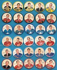 1961-62 SHIRRIFF SALADA NHL HOCKEY COIN 61-62 COINS 1-120 SEE LIST
