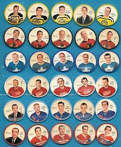 1961-62 SHIRRIFF SALADA NHL HOCKEY COIN 61-62 COINS 1-120 SEE LIST