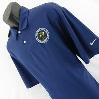 NWT Mens Nike Golf Dri Fit Blue Stay Cool Performance Tennis Polo Shirt Size XL