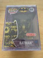 Funko Pop! Batman Black/Yellow #01 DC Art SeriesTarget Exclusive
