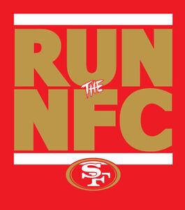 San Francisco 49ers RUN the NFC shirt NFL Playoffs Superbowl Super Bowl t-shirt