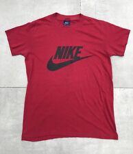 Vintage 80's Nike Blue Tag T Shirt 50/50 Red Swoosh Logo S XS Nice