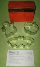 Pampered Chef Set Of 3 Halloween Cookie Cutters #1097 W/ Instructions & Recipe