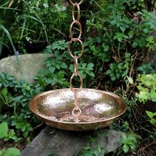 Good Directions Handcrafted Rain Chain Basin Polished Copper Wide Mouth Cups