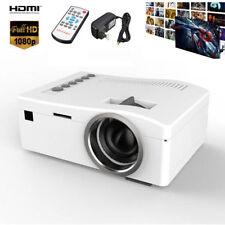Mini LED Beamer Heimkino Projektor Multimedia Cinema AV VGA USB SD HDMI 1080P A