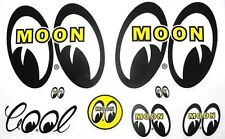 Mooneyes Decal Assort Hot Rat Rod Car Street Drag Racing  Moon Stickers Gasser