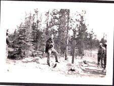 VINTAGE PHOTOGRAPH '43 GOOFY GRAVES WHITEHORSE CANADA YUKON CANOL PIPELINE PHOTO