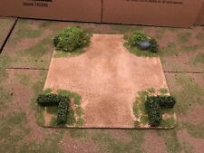"""28mm, Painted Terrain, 5"""" road Intersection w/ 28mm hedges (C)"""