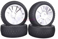 RC 1:8 Off-Road Buggy Model Car Rubber Tyre Tires Metal Wheel Rims silver M804S1