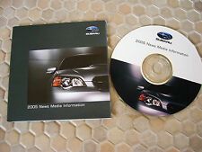 SUBARU OFFICIAL FORESTER BAJA LEGACY WRX PRESS CD BROCHURE 2005 USA EDITION.