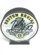 Patrice Bergeron Boston Bruins signed autographed Stanley Cup Champ acrylic puck