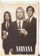 PICTURE POST CARD OF NIRVANA LOOKS LIKE IT IS FROM 1994