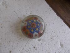 "ANTIQUE FLORAL PATTERN SMALL 2""MINI GLASS PAPERWEIGHT PONTILED BOTTOM"