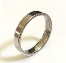 Wholesale 100 mix of 4mm  Comfort-fit Silver Stainless Steel Band Rings