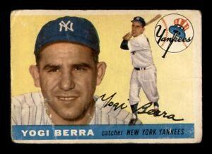 1955 Topps Set Break # 198 Yogi Berra LOW GRADE *OBGcards*