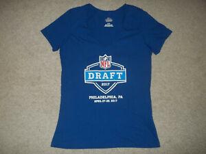 NWOT 2017 NFL Draft Philadelphia PA April 27-29 Majestic Womens Blue Large Shirt