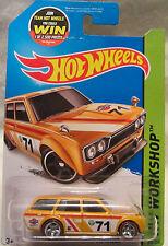 Hot Wheels A MEDIDA '71 DATSUN Pájaro Azul 510 WAGON Real Riders 1 of 1 Made