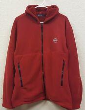 Nautica Competition Red Hoodie Hooded Zipper Fleece Sweatshirt - Size Large