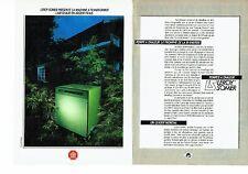 PUBLICITE ADVERTISING 0217  1985  pompes à chaleur Leroy Somer (2p)