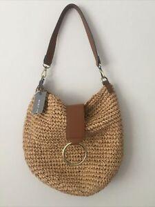 Mint Velvet Rattan Hand Bag Shoulder Bag Holiday Bohemian Beach Brand New Tags
