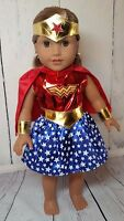 "6 Piece Wonder Women Inspired Costume fits American Girl Dolls-18 "" Dolls"