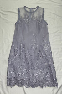 NWT Nanette Lepore Lace Embroidered Cocktail Dress Purple Iris Bliss $169 Sz 10