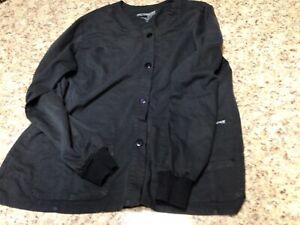 GREY'S ANATOMY XL Scrub Jacket Black Barco Uniform —Free Shipping