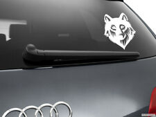 Wolf Werewolf Car Sticker Styling Window Decal, White