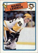 1988-89 Topps #1 Mario Lemieux Pittsburgh Penguins**CREASE FREE**