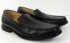Giorgio Brutini  Mens 9 Black Leather Loafer Shoes Moccasin Toe Slip On Comfort